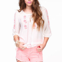 Boho Embroidered Blouse - LoveCulture