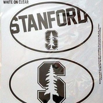 Stanford Cardinal 2-Pack EURO STYLE Oval Home Auto Decals Sticker University