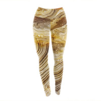 Earth Agate Earth Rock Unique Yoga Exercise Leggings