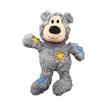 Pet Supplies : Pet Squeak Toys : KONG Wild Knots Squeaker Bears for Dogs, Medium/Large, Colors Vary