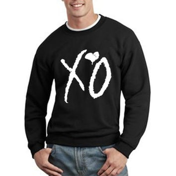 The Weeknd Sweatshirt The Weeknd Official Issue Xo Ovoxo Logo Unisex Sweatshirt Crewneck tee size S,M,L #3