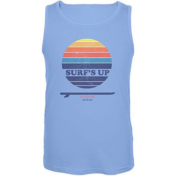 Surf's Up Backdoor Hawaii Carolina Blue Adult Tank Top