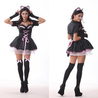 Cat Women Cosplay Anime Cosplay Apparel Holloween Costume [9220293828]