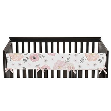 Sweet Jojo Designs Watercolor Floral Reversible Long Rail Guard