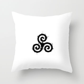 Teen Wolf - Triskelion 1 Black (Splatter) Throw Pillow by WincestSounds | Society6
