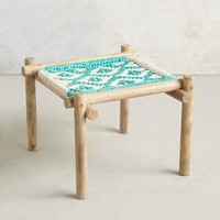 Diamond-Weave Ottoman by Anthropologie