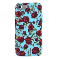 Blue Roses Floral iPhone Case