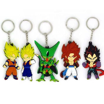 Dragon Ball z Action Figures Cosplay Monkey King Pvc Silicone Pendant Keychain Brinquedos Kids toys