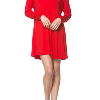 Women's Long Sleeve Piko Dress