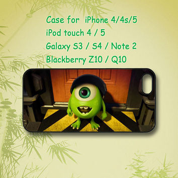 Mike Wazowski, iPhone 5 Case, iPhone 4 Case, ipod 4 case,ipod 5 case,Samsung Galaxy S4,Samsung Galaxy S3, Samsung note 2, blackberry z10,Q10