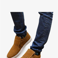 Men's Suede High Top Sneakers In Tan