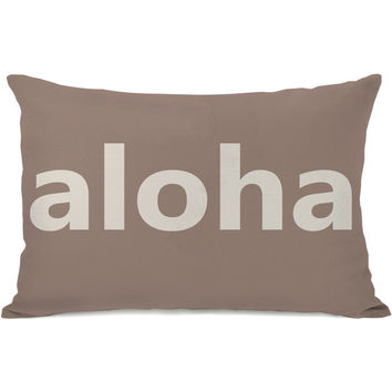 """Aloha"" Indoor Throw Pillow by OneBellaCasa, 14""x20"""