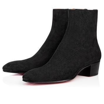 Huston 40 Black Suede - Men Shoes - Christian Louboutin