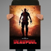 Poster Print Deadpool Marvel Wall Decor Canvas Print - halawatani.com