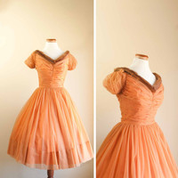 50s party dress  vintage 1950s dress by pistolpoppy on Etsy