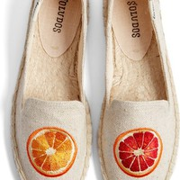 Soludos 'Oranges' Embroidered Espadrille Slip-On (Women) | Nordstrom