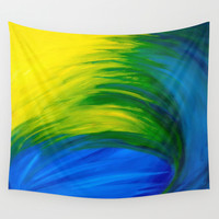 Feathers Wall Tapestry by Sierra Christy Art