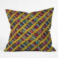 DENY Designs Sharon Turner Skew Whiff Book Stack Throw Pillow, 26-Inch by 26-Inch