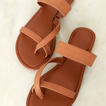 Criss Cross Me Sandal Tan