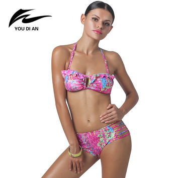 Brazilian Thong Bikini  Push Up 2016 Sexy Bandage Bikini Sets High Quality Women Bikini Swimsuit Low Waist Biquini Beach Wear