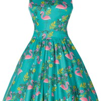 Tea Dress - Summer Flamingo