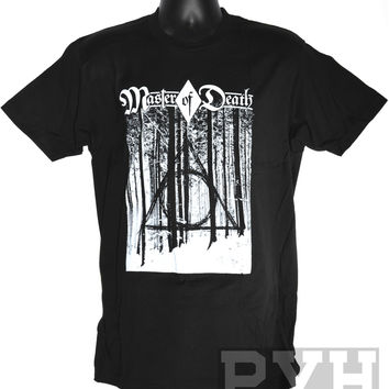 Master of Death Unisex Black Tee by Popular Virus