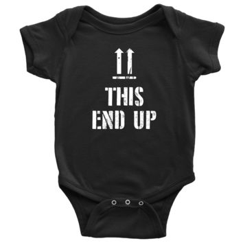 This End Up - Funny Baby Onesuit