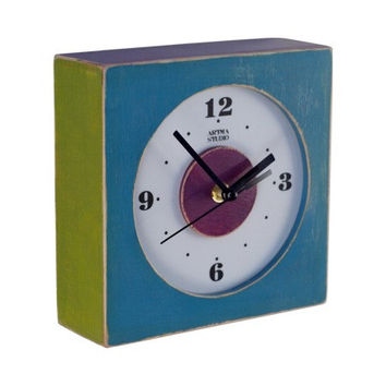 Wall clock blue - multicolor - Free shipping