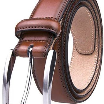 Men's Belt, Classic and Fashion Designs for Work Business and Casual, Regular Big & Tall Sizes Handmade Genuine Leather