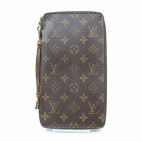 Authentic Louis Vuitton Zippy Wallet Travel Organizer Browns Monogram 133639