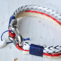 SALTI Men's Nautical Rope Bracelet SHACKLE Sailor Surfer Snow Boarder FREE Worldwide shipping