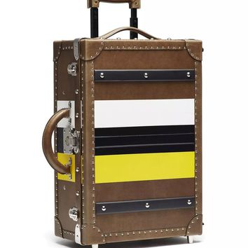 Leather Rolling Trunk Trolley by Ghurka