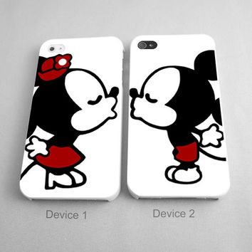 Mickey Mouse And Minnie Mouse Kissing Couples Phone Case iPhone 4/4S, 5/5S, 5C Series, iPhone 6, 6plus- Hard Plastic, Rubber Case