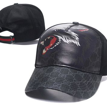 Womens Mens Wolf GG Hat Gucci Baseball Cap Gift