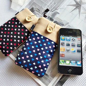 Eco-Friendly PREMIUM velvet lining Gadget Accessory - Gift idea - Gift for her -  women gift -case for ipod touch 4 iphone 4/4s/5 cover