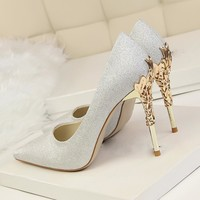 Women Pumps / High Thin Heel Metal Stilettos