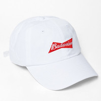 Been Trill x Budweiser White Strapback Dad Hat at PacSun.com