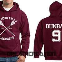 9 DUNBAR 9 Beacon Hills Lacrosse Teen Unisex Hoodie - Tumblr Text - Part 1