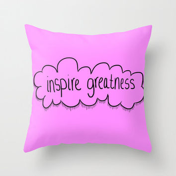 Throw Pillow - Pillow Cover Includes Pillow Insert - Motivational - Inspirational - Purple Pillow Cover- Inspire Greatness - Made to Order