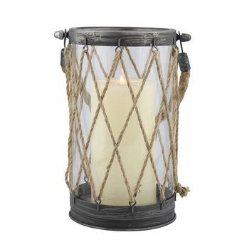 Stonebriar Collection Large Nautical Lantern (Vintage Zinc)