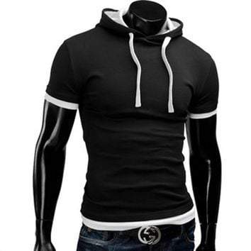 Casual Short Sleeved Hoodie T-Shirts