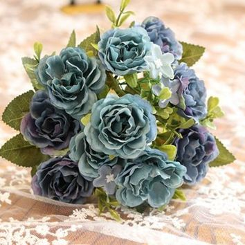 Artificial European Silk Rose Flowers Party Decorations