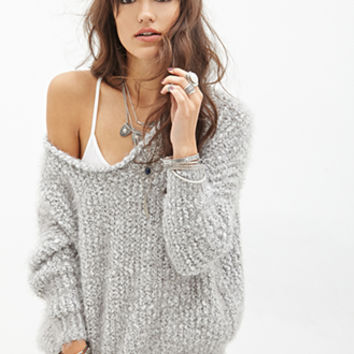 FOREVER 21 Fuzzy Dolman Sweater