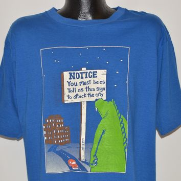 80s Must Be As Tall As This Sign Godzilla t-shirt Large