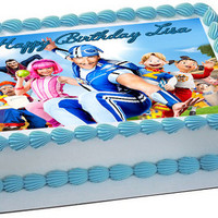 Lazy Town Edible Birthday Cake Topper OR Cupcake Topper, Decor