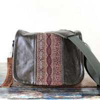 Mirrorless Leather Camera Bag - Red Boho Chains Compact Camera System Video Bag - PRE ORDER