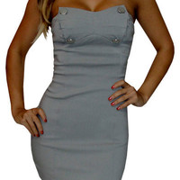 Longing Touch (Grey)-Great Glam is the web's best online shop for trendy club styles, fashionable party dresses and dress wear, super hot clubbing clothing, stylish going out shirts, partying clothes, super cute and sexy club fashions, halter and tube top
