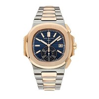 Patek Philippe Nautilus Stainless Steel & Rose Gold Watch Blue Dial 5980/1AR-001