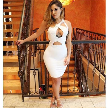 Women Casual Summer Sleeveless White Party Evening Club Sexy Dress