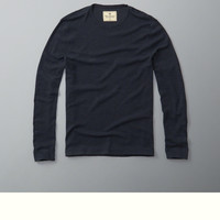 Ribbed Slub Long-Sleeve Tee